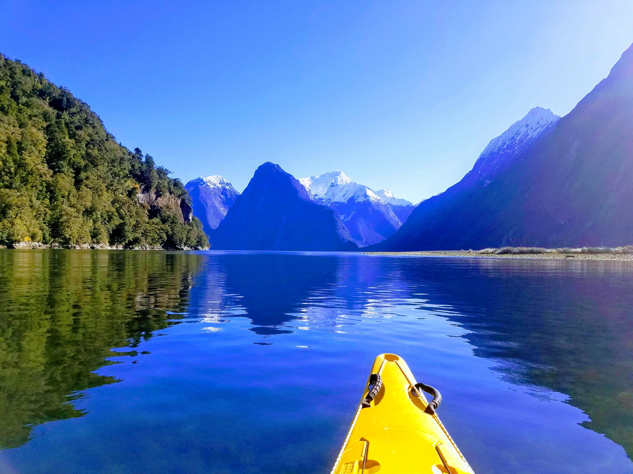 Kayak Milford Sound, Radfords on the Lake